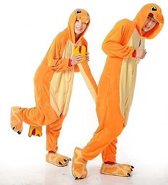Charmander Unisex Adult Animal Cosplay Cosplay Costume Pajamas Onesies  (Large 23aefb887