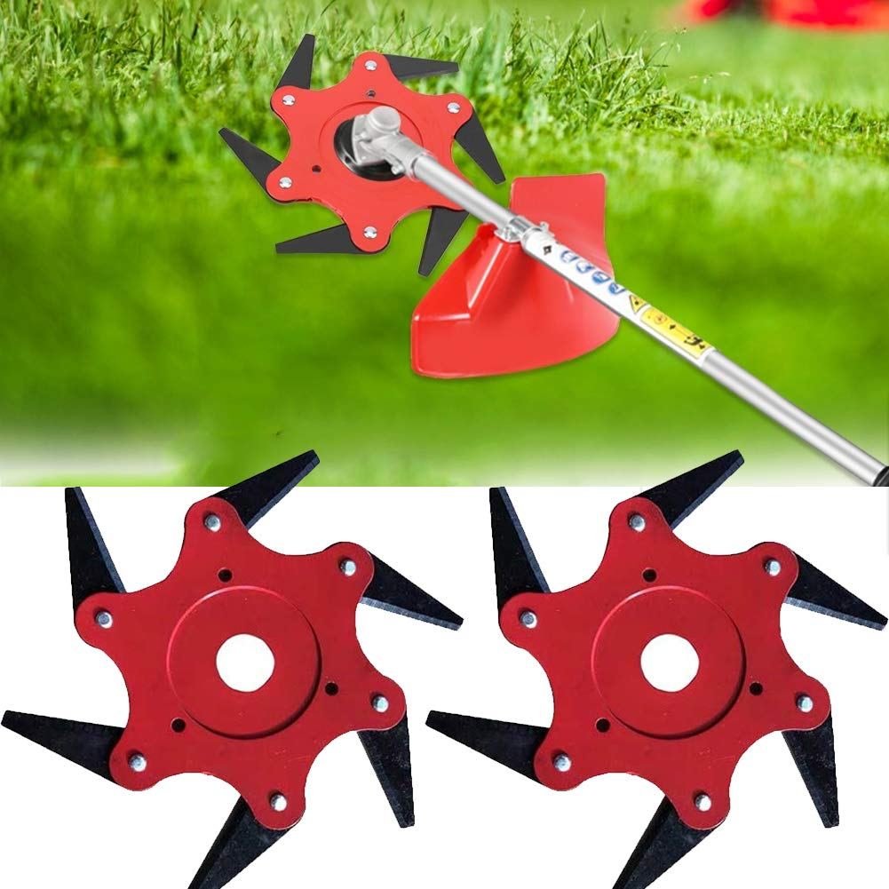 Outdoor Trimmer Head 5 Steel Blades Razors 65Mn Lawn Mower Grass Weed Eater Brush Cutter Tool (2 Pack) by Tokenhigh