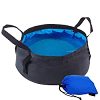 Comfysail 8.5L Portable Foldable Bucket Water Storage Container Collapsible Water Bowl Perfect For Car Washing Painting Fishing Wash Hands Footbath Basin-Pratical Storage Pouch