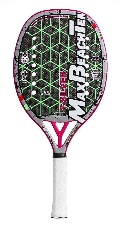 Pala de Tenis Playa MBT Y-SILVER 2019: Amazon.es: Deportes y aire libre