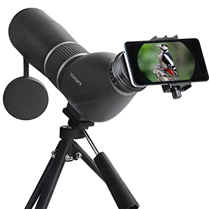 amazon com spotting scope,15 45x60 waterproof monocular telescopeamazon com spotting scope,15 45x60 waterproof monocular telescope bird watching outdoor viewing with tripod and digiscoping adapter sports \u0026 outdoors