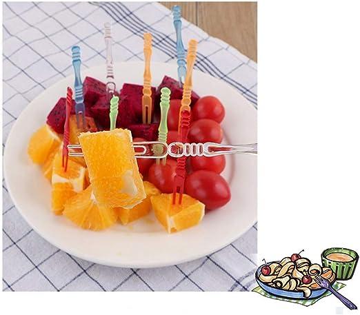 80x Food Fruit Picks Disposable Cupcake Forks Appetizer Picks Cocktail Party