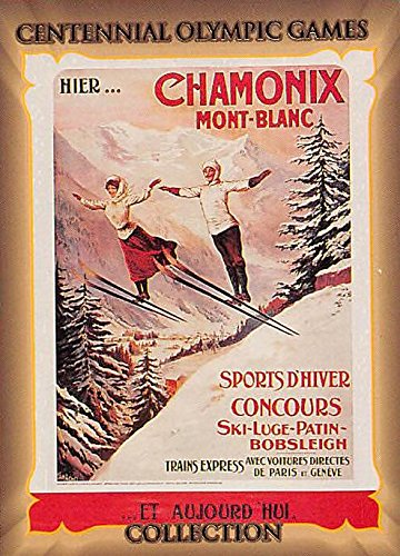 1924 Chamonix Trading Card (Olympic Games Poster) 1992 Centennial Olympic Games #41 - 1924 Games Olympic