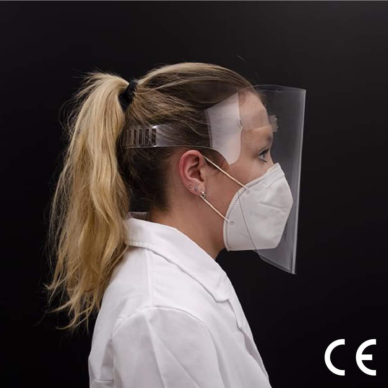Pack 5 Pantallas Homologadas Protectoras Faciales | Máscara Ultra Transparente | Máscara Anticontagio Ajustable, Ergonómica y Reutilizable (5)