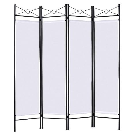 Amazon.com: Giantex 4 Panel Room Divider Screens Steel Frame ...