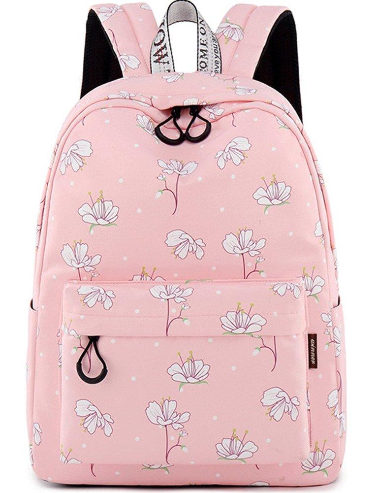 School Bookbag for Girls Fashion Cute Laptop Backpack Travel Daypack Shoulder Rucksack Knapsack (Pink)