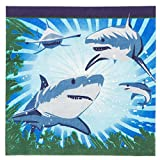 shark party favor box - Shark Party Luncheon Napkins (16 Pack)