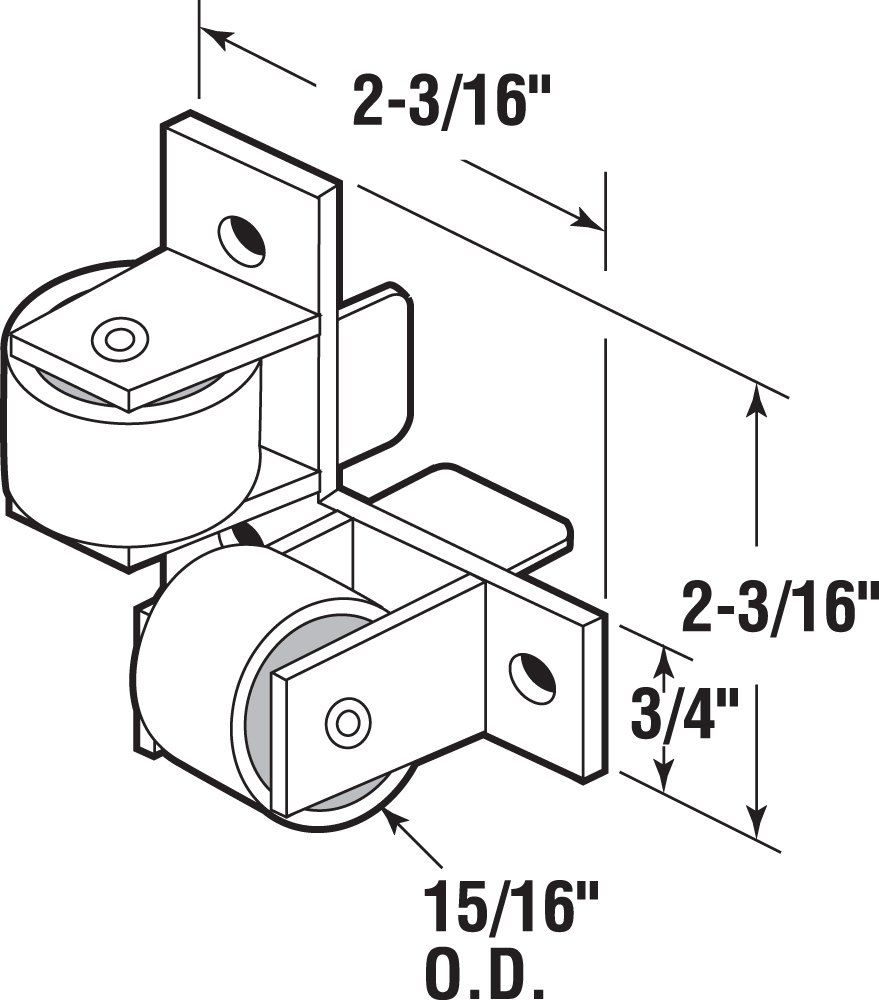 Prime-Line Products R 7218 Drawer Guide Roller Assembly