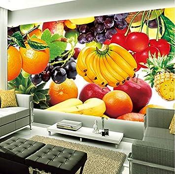 Fruta Fresca Custom 3D Photo Wallpaper Murales Restaurante Sala De ...