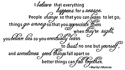 Amazoncom Byyoursidedecal I Believe That Everything Happens For A