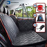Drabday Dog Car Seat for Backseat - Ultra-Durable Dog Seat Cover for Back Seat - Heavy-Duty & Non-Slip Dog Hammock - Waterproof Pet Seat Cover for Dogs Pet Seat Covers for Car Truck & SUV