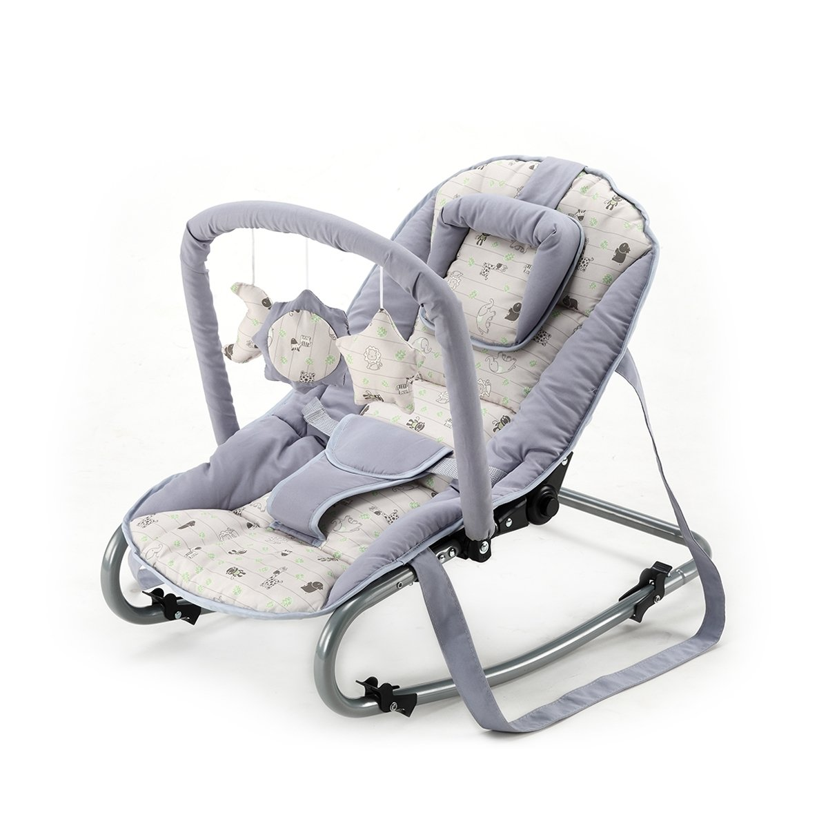 BABY-PLUS Wippe Bella C 17-07 (Grey/Animal) Baby Plus