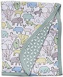 C.R. Gibson Soft Animal Caravan Baby Boy 100% Cotton Receiving Blanket, 30'' x 40''