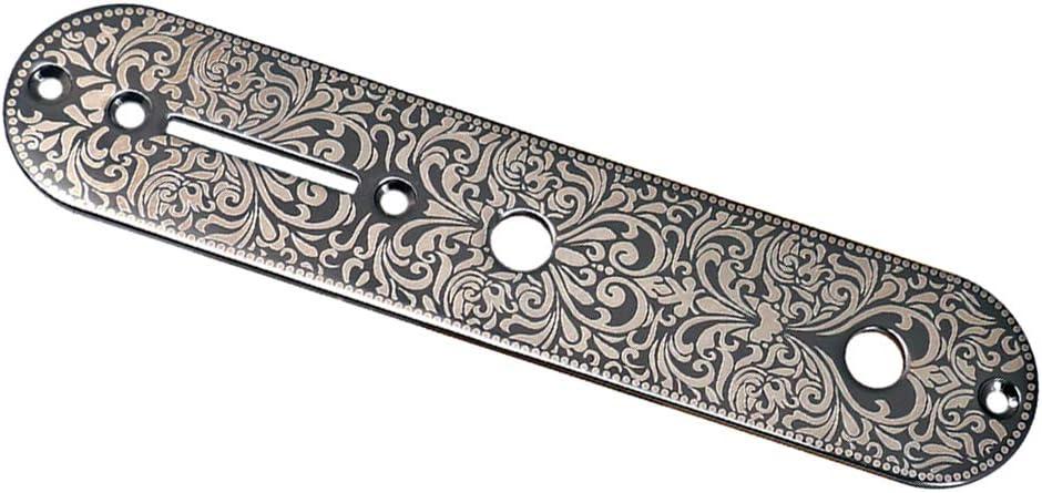 Negro Interruptor de Control de Puente de Guitarra Talla Placa de Cubierta para Fender Telecaster Electric Guitar Parts