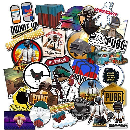 29pcs Playerunknows PUBG Game Stickers for Snowboard Laptop Luggage Car Fridge DIY Styling Vinyl Home Decor Waterproof Pegatina