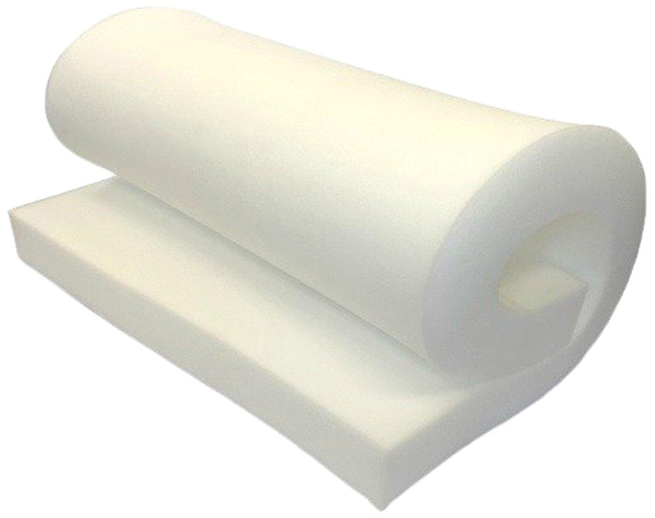 FoamRush FM012472 High Density Upholstery Foam Cushion, Seat Replacement, Upholstery Sheet 1'' x 24'' x 72'' by FoamRush
