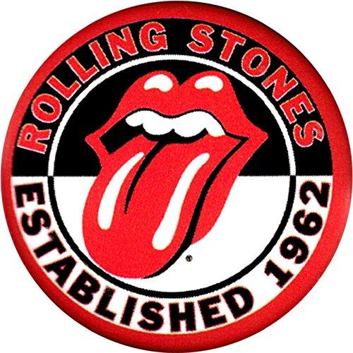Stone Button - Rolling Stones - Established 1962 Tongue Logo - 1 1/4