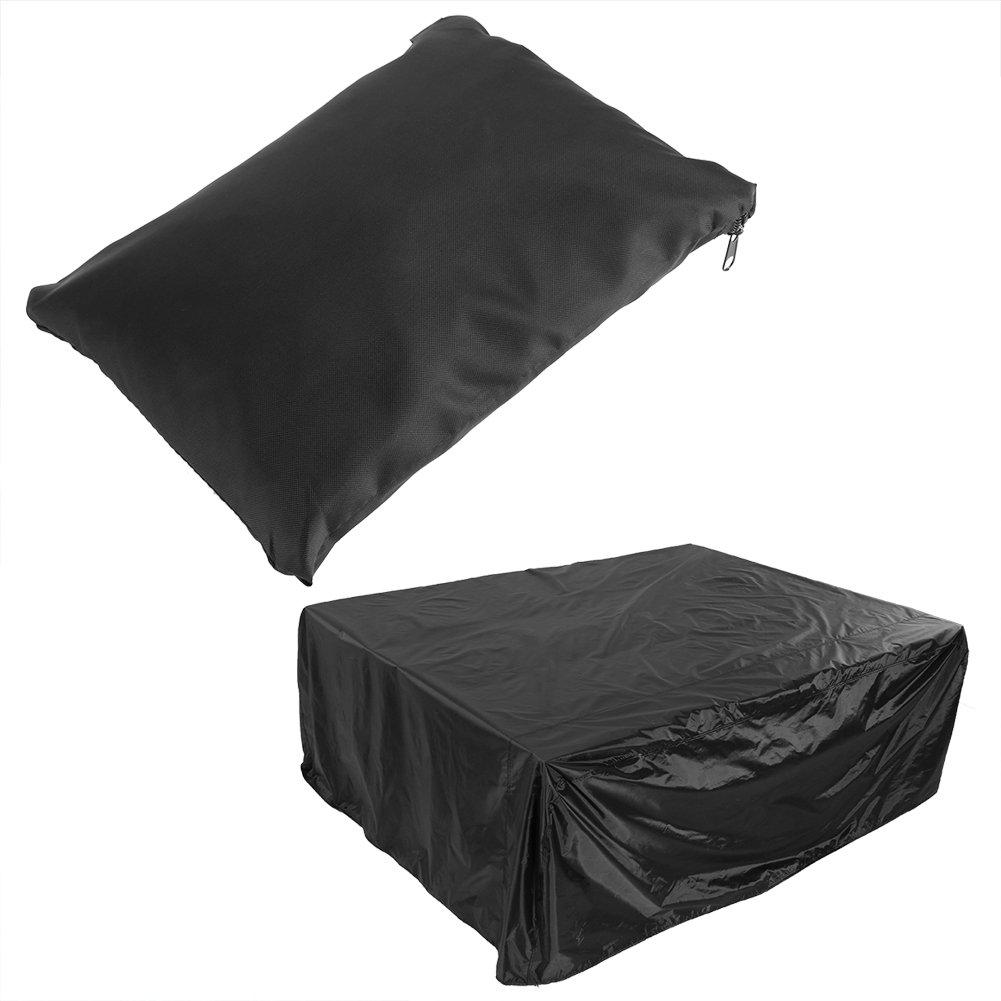 Copertura esterna per mobili da giardino Patio Polvere impermeabile/UV/resistente al vento, rivestimento in poliestere per rivestimento in poliestere 210D(200*160*70CM) Zerodis