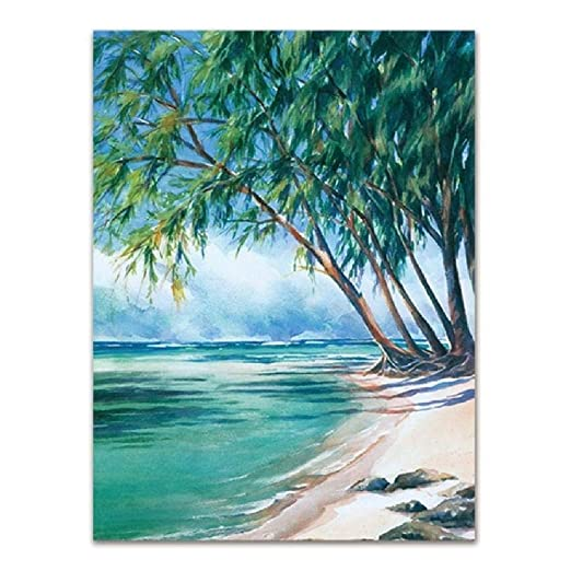 SCLPOSTER Cartel Lienzo Pintura Tropical Seascape Art Print ...