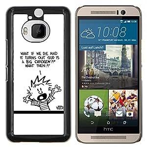 Calvin Hobbs- Metal de aluminio y de plástico duro Caja del teléfono - Negro - HTC One M9+ / M9 Plus (Not M9)
