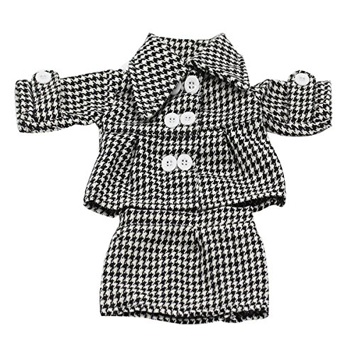 [Doll Clothes, AOFUL Long Sleeve Professional Office Plaid Coat Short Skirt 2 Pieces Suits Outfit Fits 16-18