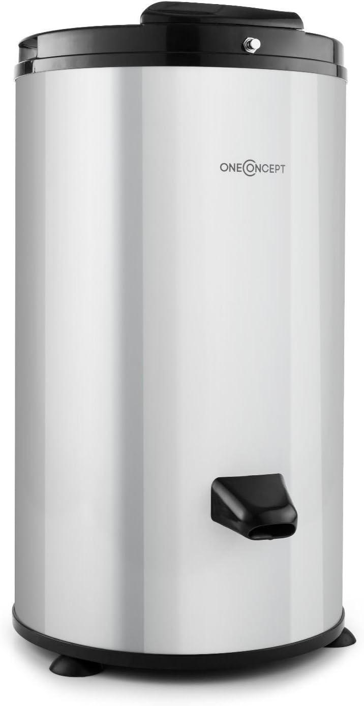 oneConcept MNW3-WS-3500 centrifugadora de ropa (tambor 6 kg, 2800 rev/min, tiempo secado 2-3 minutos, acero inoxidable, funcionamiento silencioso, mecanismo seguridad) - plata