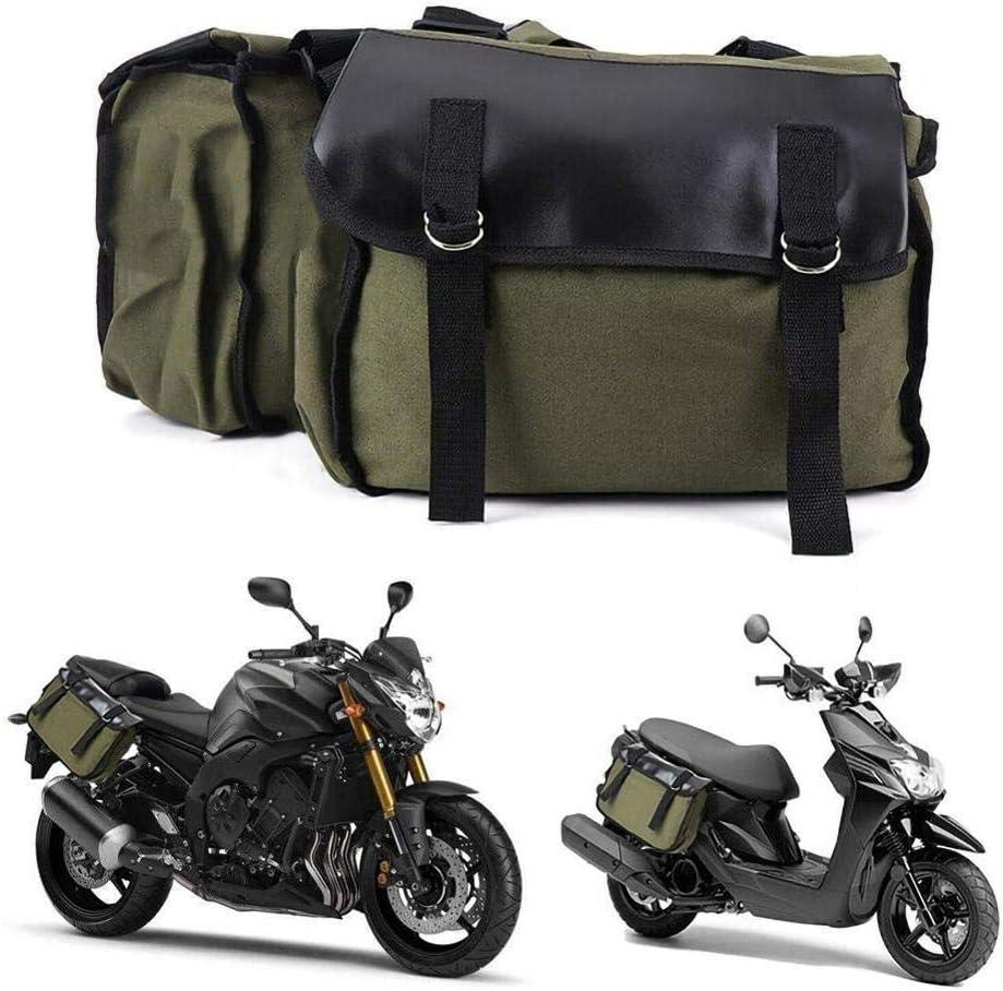 DHJFKSKH HS Mochila Lateral de Lona de Cuero para Motocicleta Bolsa de Silla de Montar Bolsa de Equipaje Doble Tanque de Embalaje Tanque de Combustible Mochila de Motocicleta, Australia