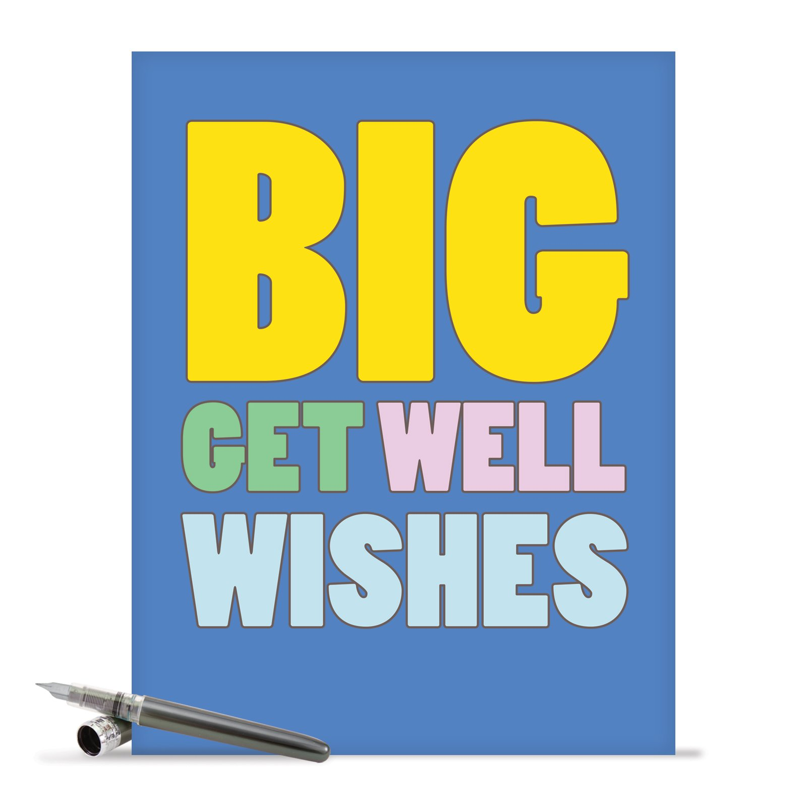 J2721Gwg Jumbo Funny Get Well Card: Big Get Well Wishes With Envelope (Extra .. 10