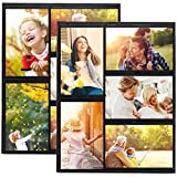 HIIMIEI 4x6 Magnetic Picture Frames Refrigerator, Fridge Magnet Collage Photo Frame Pocket Sleeves, Each Hold 5 Photos (2 Pack,Black)