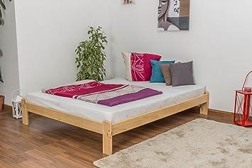 Somier/cama de madera maciza de pino A10, con somier ...