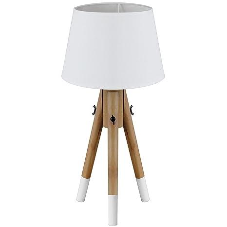 Pie Lámpara de pie TRIPOD E27 40 W H49 cm lámpara de mesa ...