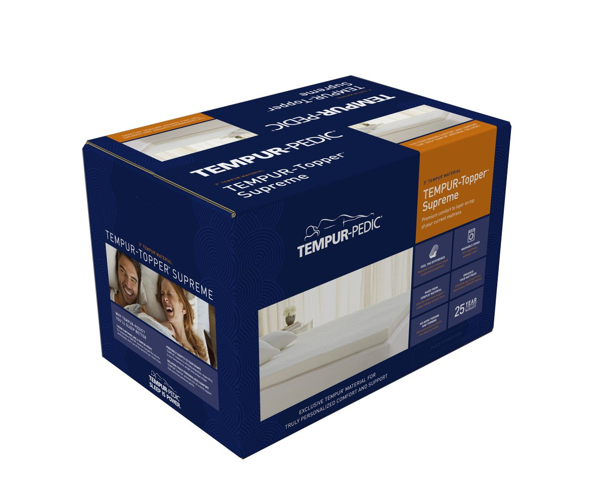 Tempur Pedic Supreme 3 Inch Premium Foam Mattress Topper Adaptable Personalized Comfort Pressure Relieving Assembled In The Usa 25 Year Warranty