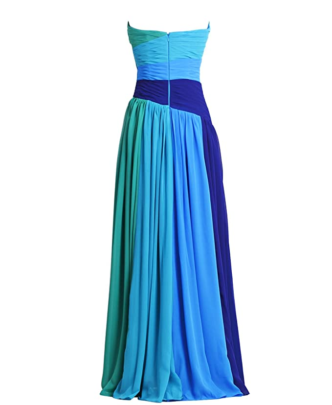 Fashion Plaza Chiffon Strapless Bridesmaid Formal Evening Prom Party Dress D0192 at Amazon Womens Clothing store: