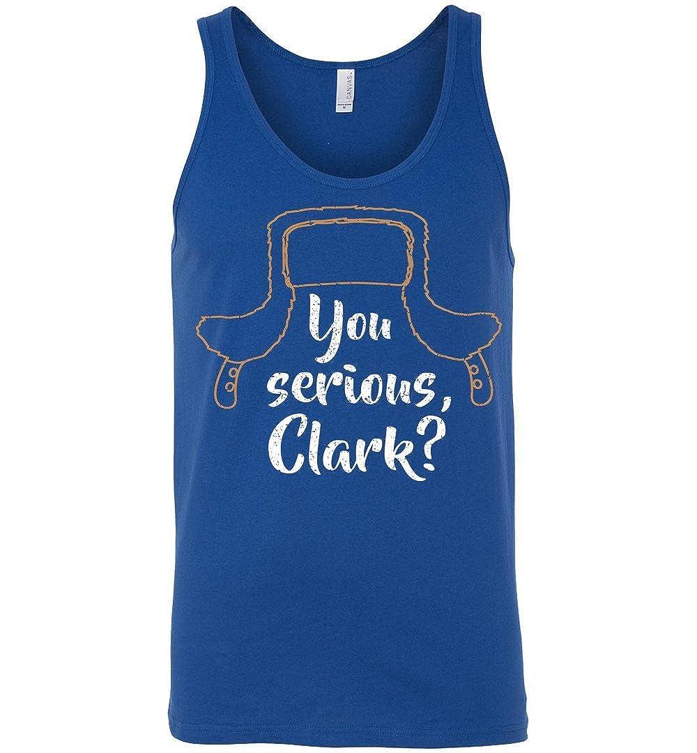 TEEPAAA You Serious Clark Funny Christmas Unisex Tank