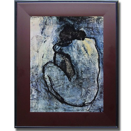 Blue Nude by Pablo Picasso Premium Mahogany Framed Canvas Art (Ready-to-Hang) (Medium)