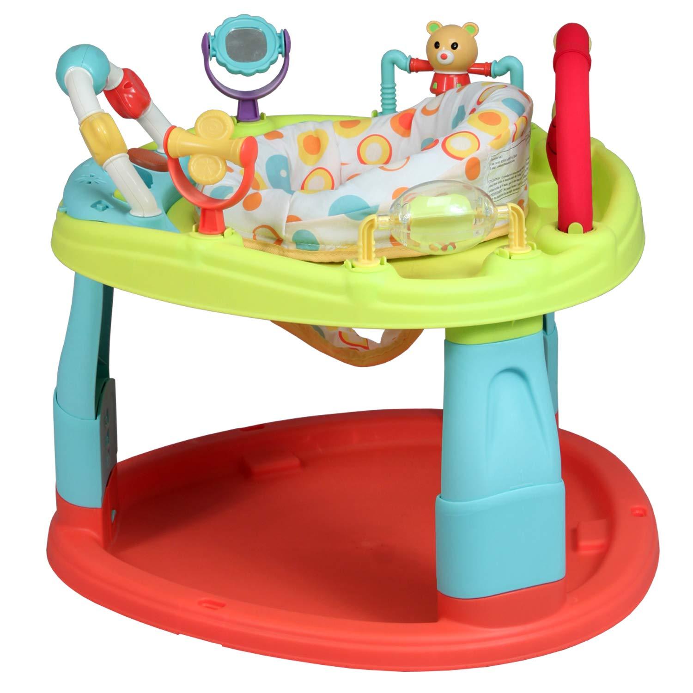 6 juegos l/údicos. multiposici/ón Base de actividades y de estimulaci/ón para beb/és asiento giratorio de 360/°