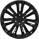 Partsynergy Replacement For 22' Rim fits 1999-2018 Chevrolet Silverado 1500 Style Black 22x9 Aluminum Wheel