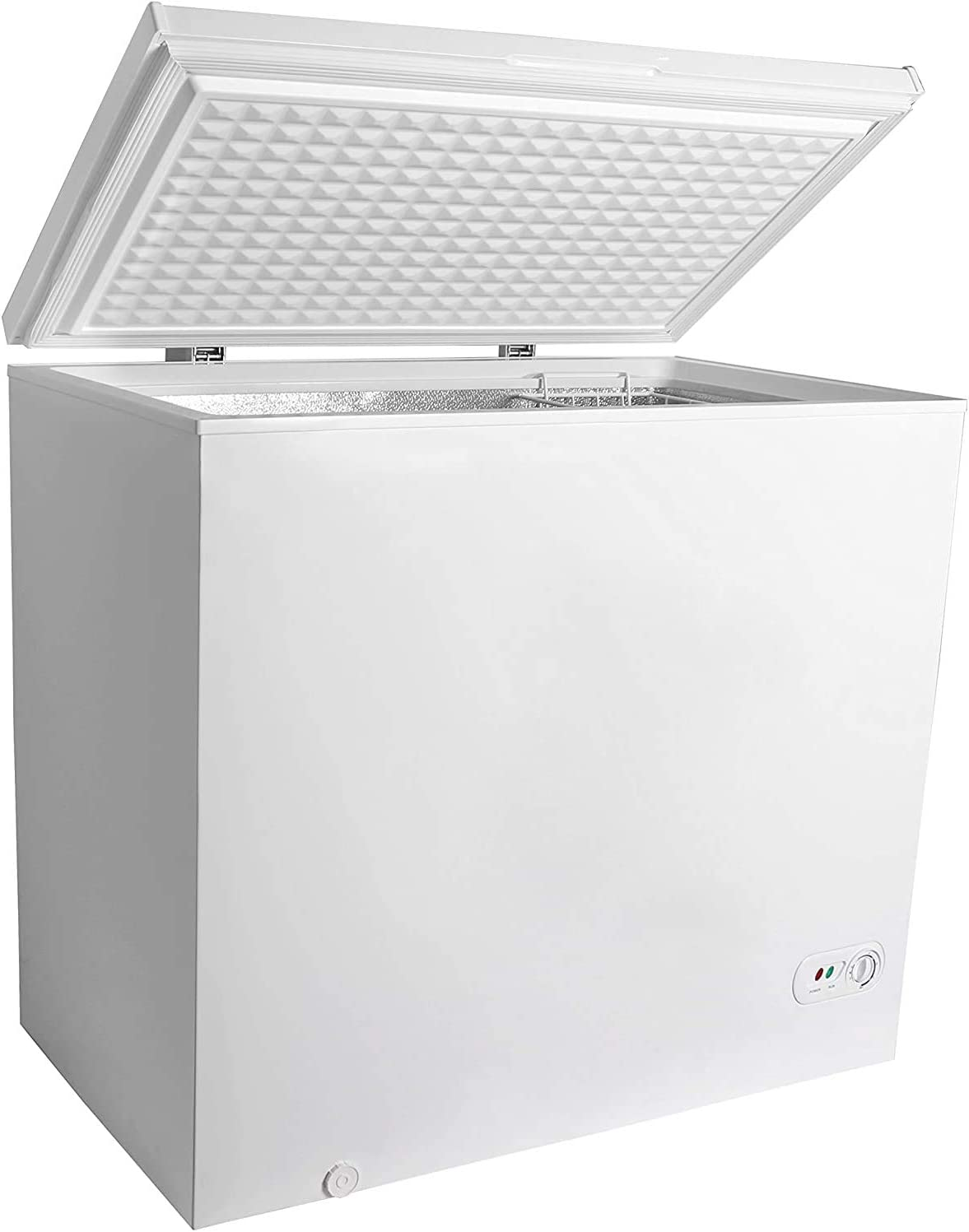 7.0 Cubic Feet Chest Freezer with Removable Basket, from 6.8℉ to -4℉ Free Standing Compact Fridge Freezer for Home/Kitchen/Office/Bar (WHITE)…