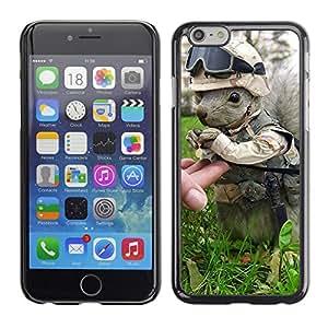 CaseCaptain Carcasa Funda Case - Apple Iphone 6 / Squirrel Soldier /