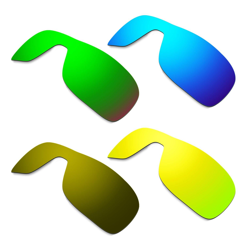 HKUCO Mens Replacement Lenses For Oakley Turbine Rotor Blue/Black/24K Gold/Bronze Sunglasses 1j5xzTL