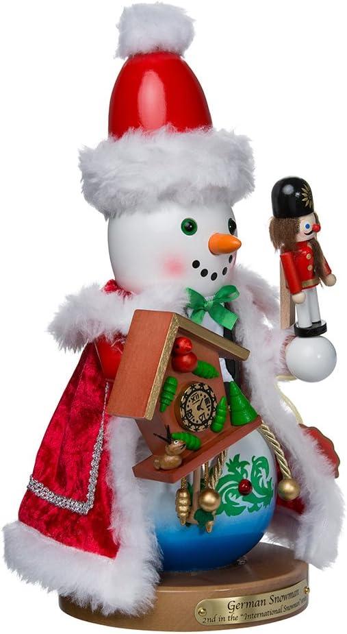 """Kurt Adler 14"""" Steinbach German Snowman Nutcracker"""