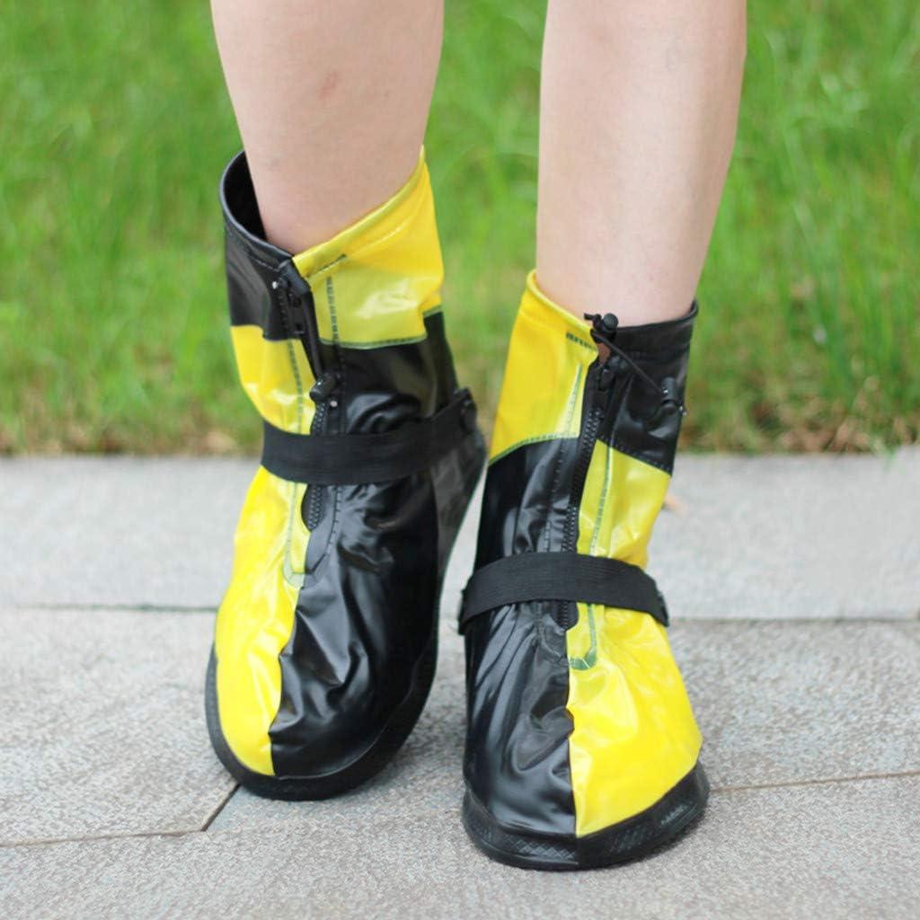 Eternali Wasserdicht /Überziehschuhe Unisex Fahrrad Wandern Shoe Cover Regen/überschuhe Wiederverwendbare rutschfeste Schuh/überzug f/ür Regen Schneetag W/üstenstrand Schlammige Stra/ßen Schuh/überzieher