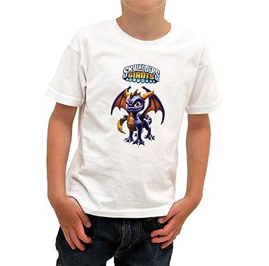 2371babc79b0d SKYLANDERS - Tshirt enfant blanc Spyro Taille 11/12 ans: Amazon.fr ...