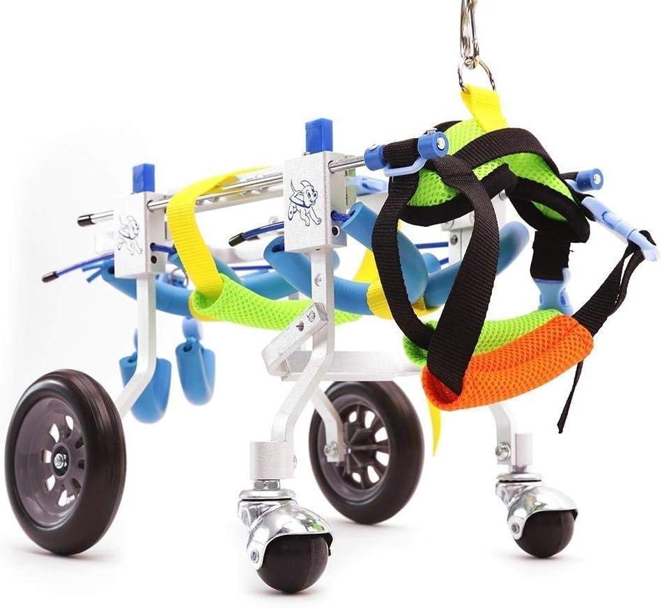 調整可能ペット用車椅子 犬の車椅子、親友 - 犬の車椅子犬の移動式ハーネス、2輪調整可能なステンレス鋼カートペット/猫犬車椅子障害のある犬のための後肢リハビリテーション、後部支持車椅子 後肢車椅子 (Size : XL)