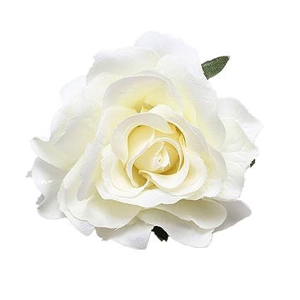Alcyonee Pique A Cheveux Fleur Rose Broche Pour Mariage Demoiselle D Honneur Fete Accessoires Pince A Cheveux Blanc