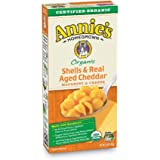 Annie's Organic Macaroni and Cheese, Shells & Aged Cheddar Mac and Cheese, 6 oz Box (Pack of 12)
