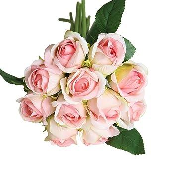 15 Köpfe Künstliche Seide Kleine Blumen Blumenstrauß Hochzeit Home Outdoor Deko