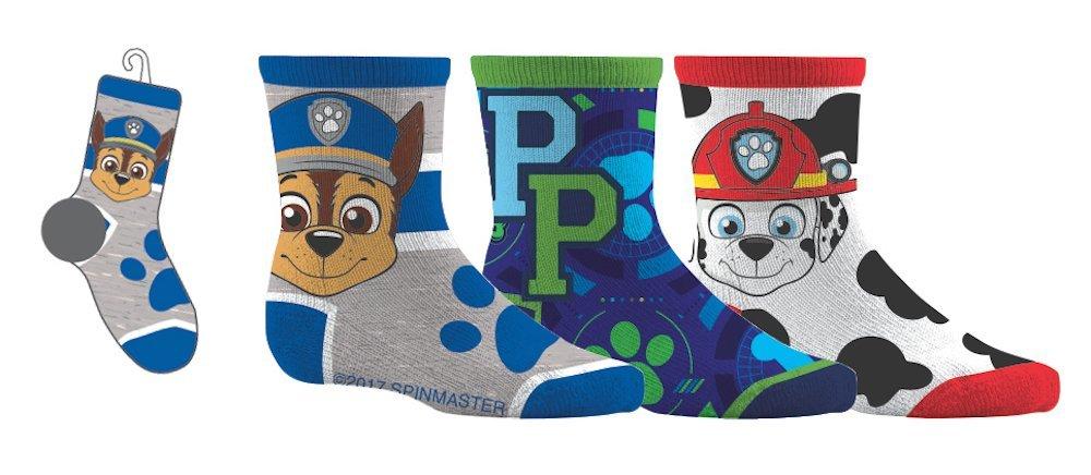 Paw Patrol Boys Sport Socks 3 Pairs 12-24 Months Shoe Size 5-8