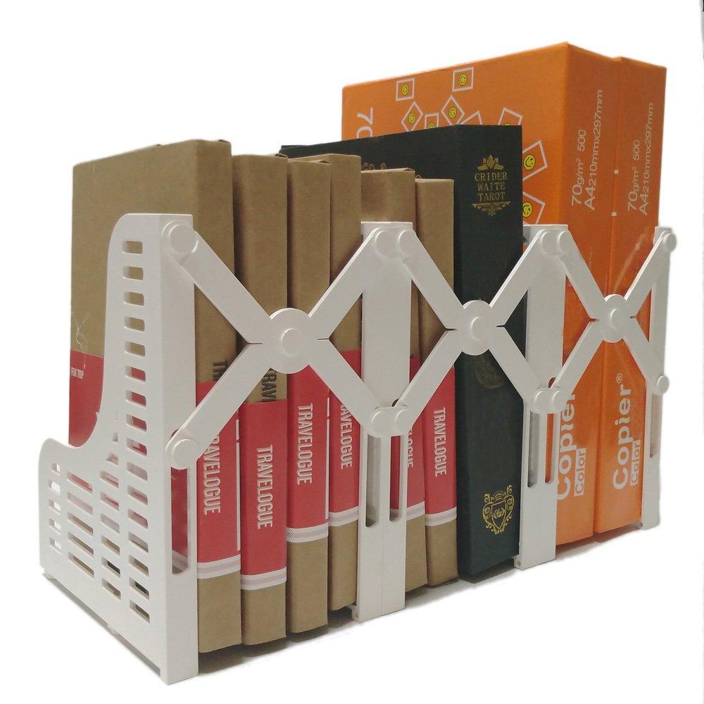 BUYBOX Adjustable Magazine/File Holders Desktop Organizer,3 Sections, Black by Generic