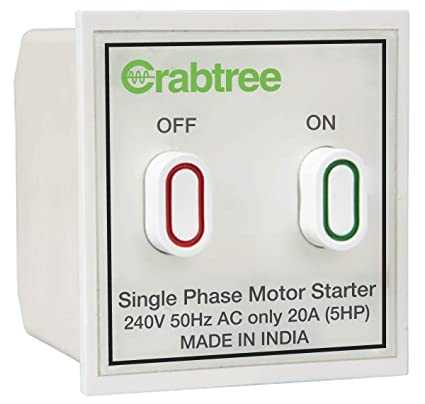 Havells Crabtree Athena 20A Motor Starter Switch, White